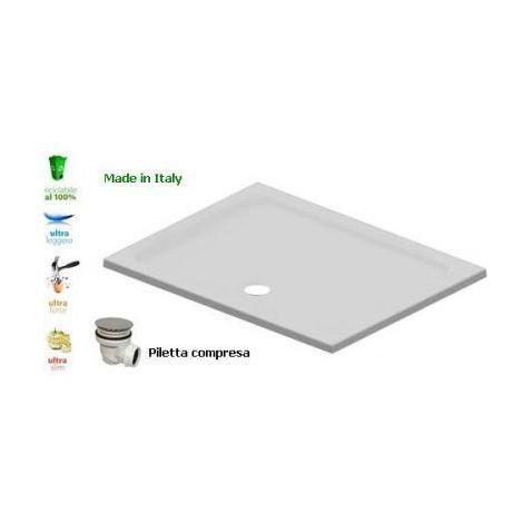 Piatto doccia flat in resina alto 3cm (rettangolare)