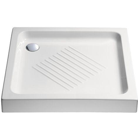 Piatto doccia H10 75x75 bianco