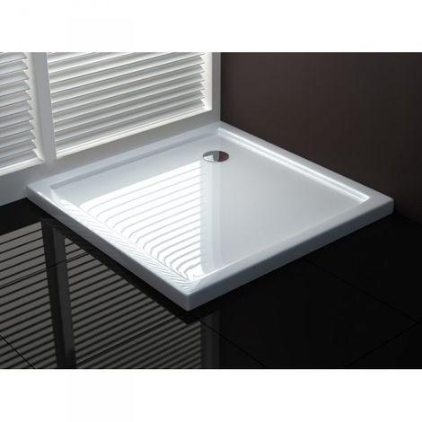 Piatto doccia in acrilico bianco lucido ultraflat h.4cm DROP SMOOTH