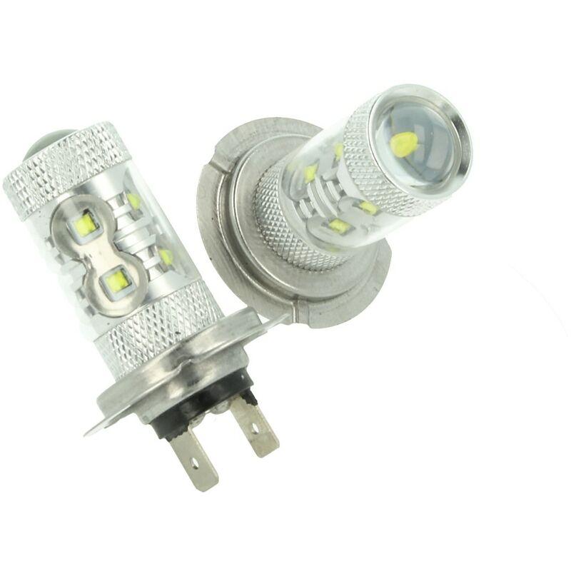 LEDLUX LS5707 Lampada Led H7 PX26d 30W 12V Per Fendinebbia Super Potente e Bianco Xenon 6 Smd Cree Da 5W