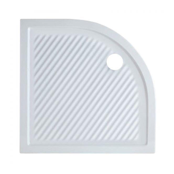 Piatto Doccia Angolare Asimmetrico.Piatto Doccia In Ceramica Ferdy By Azzurra Semicircolare Misura 90 X 90 X 6 5 H