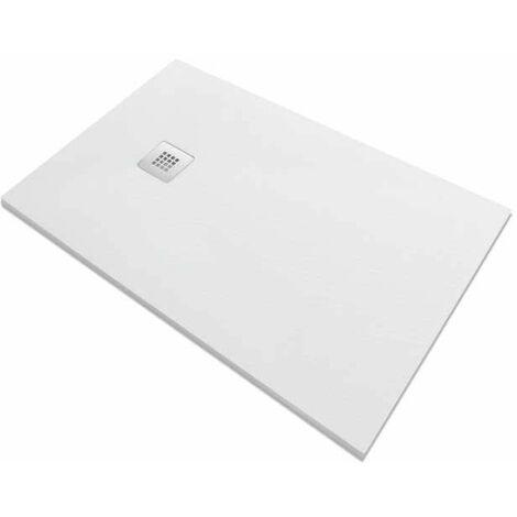 Piatto doccia in pietra SolidStone alto 2,8 cm - bianco