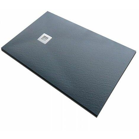 Piatto doccia in pietra SolidStone alto 2,8 cm - grafite nero