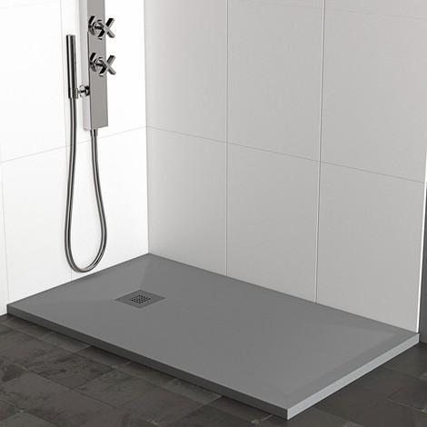 piatto doccia pietra plus antracite grigio scuro ardesia mineral marmo 3cm