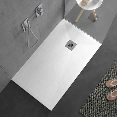 Piatto doccia pietra plus ultra basso bianco ardesia mineral marmo 3cm