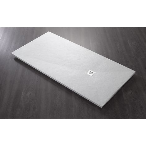 Piatto doccia riducibile h 25 cm in marmoresina 100x80 cm