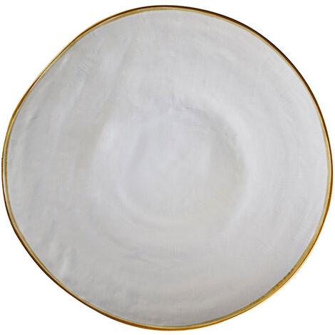 """main image of """"Piatto piano Mediterraneo in gres porcellanato bianco cm.28x3h. - Bianco"""""""