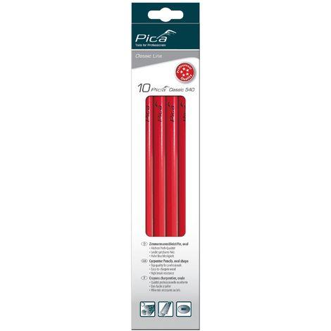 Pica Crayons de charpentier Classic 540 10 pièces 24 cm