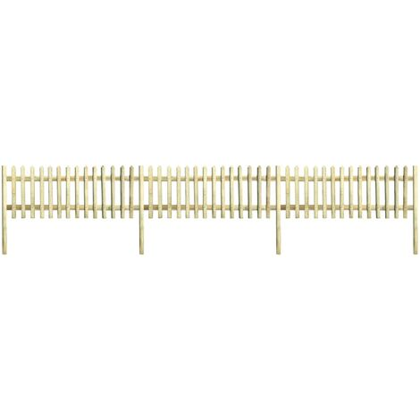 Picket Fence Impregnated Pinewood 5.1 m 150 cm 5/7cm