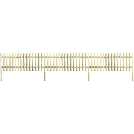 Picket Fence Impregnated Pinewood 5.1 m 170 cm 5/7cm