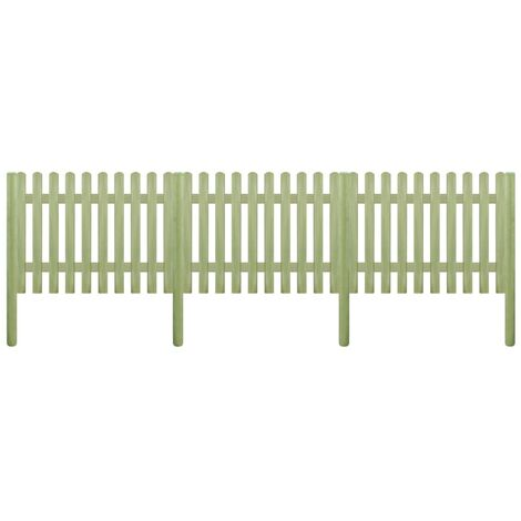 Picket Fence Impregnated Pinewood 5.1 m 170 cm 6/9cm