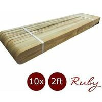 Picket Garden Fence Panels - Wood Pales 2ft High - Round Top - pack of 30