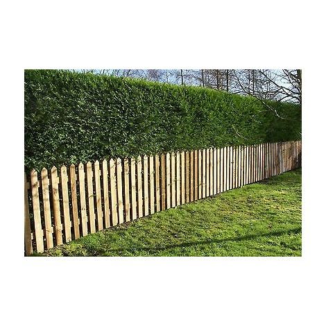 Picket Garden Fence Panels - Wood Pales 3ft High - Pointed Top - pack of 10