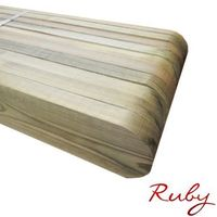 Picket Garden Fence Panels - Wood Pales 4ft High - Round Top - pack of 20