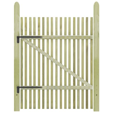 Picket Garden Gate Impregnated Pinewood 100x150 cm