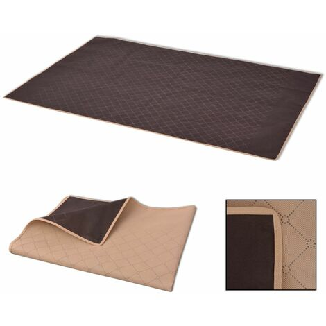 Picnic Blanket Beige and Brown 100x150 cm