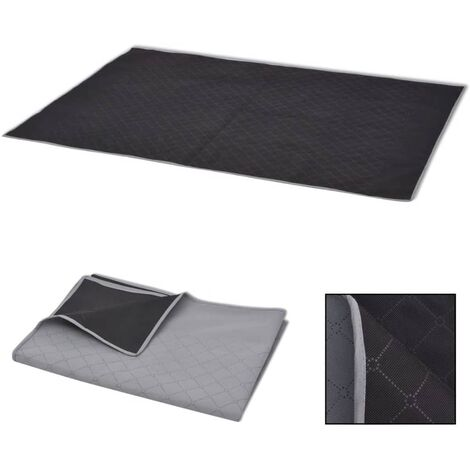 Picnic Blanket Grey and Black 100x150 cm - Multicolour