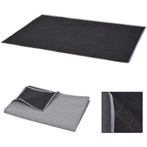 "main image of ""Picnic Blanket Grey and Black 150x200 cm477-Serial number"""
