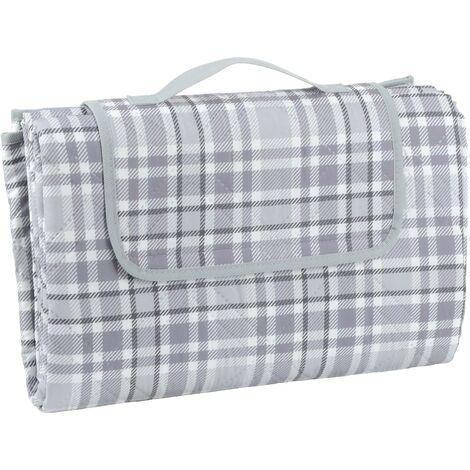 "main image of ""Picnic Blanket - Grey Check XXL"""