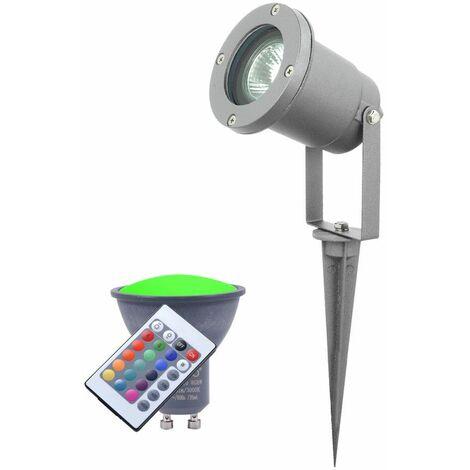 Pico conjunto terrazas lámpara del enchufe de control remoto de la lámpara de aparcamiento exterior que incluye lámparas LED RGB