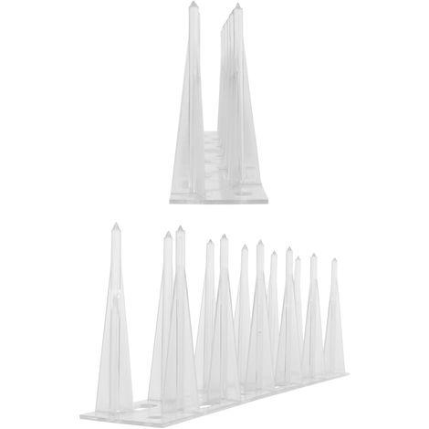 Pics anti pigeon plastique 2 rangs 1 mètre 033 - solution de qualité entièrement en polycarbonate pour les pics de contrôle des oiseaux