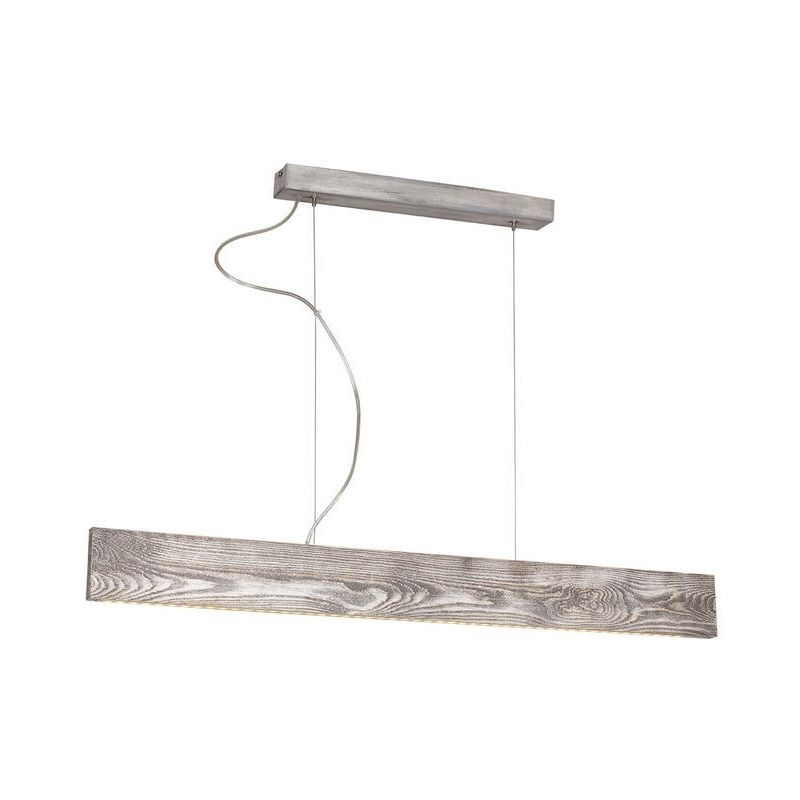 Pictor Haengelampe - Kronleuchter - Deckenkronleuchter - Grau aus Metall, Holz, 90 x 5 x 84 cm, 1 x LED, 12W, 1260LM, 6000-8000K - HOMEMANIA
