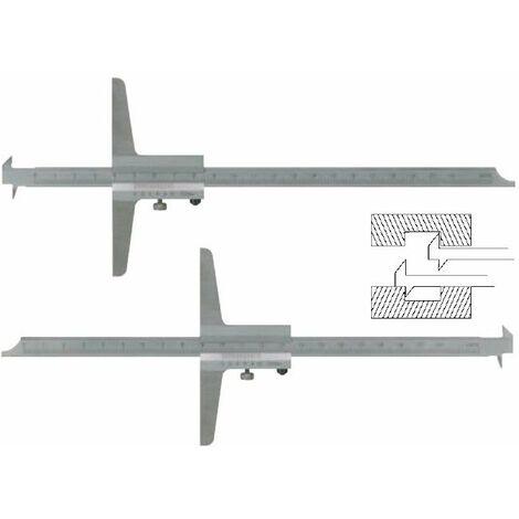 Pie de rey de profundidad 200 mm con doble gancho. Longitud de base 100mm LIMIT