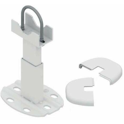 Pie para radiador de aluminio, blanco, 1 pieza.