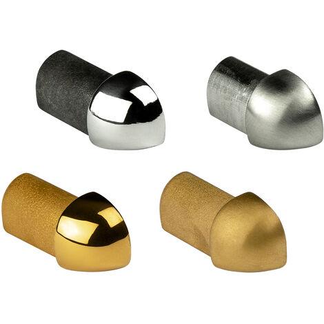Pièce d'angle   profil de quart de cercle   acier inoxydable   HEXIM   10-12mm   HEX501