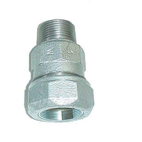 Pièce intermédiaire avec filetage pour raccordement tube acier - Filetage 50x60