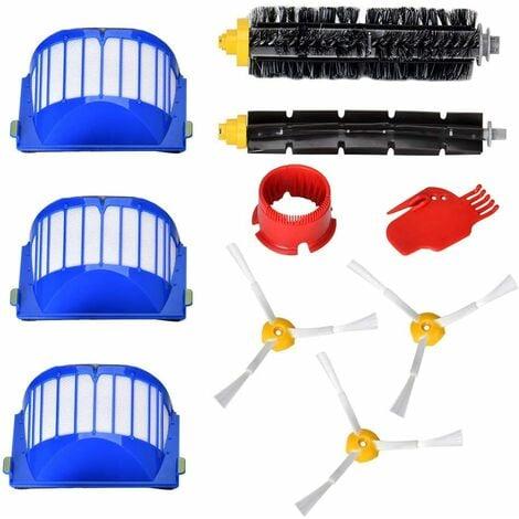 Pièces de rechange pour iRobot Roomba série 600 kit de maintenance kit de nettoyage pour 650620651621615616605 kits de 10 (série 600)