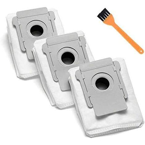 Pièces de sac à poussière de rechange compatibles pour IRobot Roomba I7 I7 + I7 Plus (7550) E5 E6 S9 + (9550) Sacs d'élimination automatique de la saleté à base propre de la série I & S (3)
