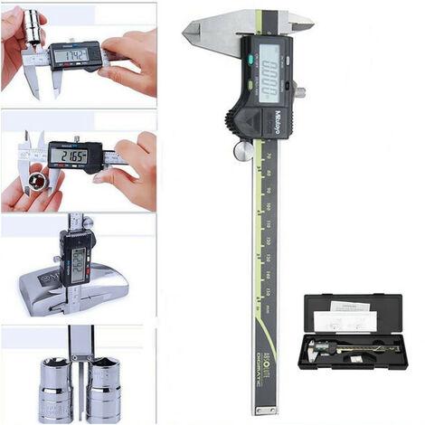 Pied à coulisse numérique 6 pouces 0-150mm 0.01mm acier inoxydable vernier électronique micromètre mesure