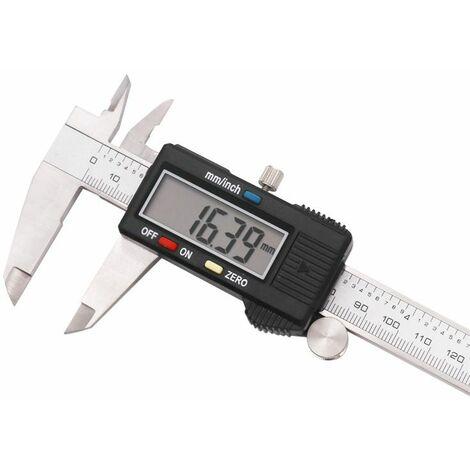 Pied à coulisse numérique de mètre en plastique Pied à coulisse électronique de hauteur en acier inoxydable 0-150 mm