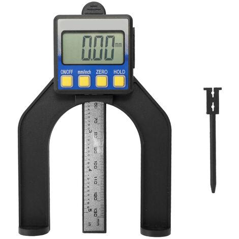 Pied a coulisse numerique hauteur jauge de profondeur outil de mesure de menuiserie livre sans batterie