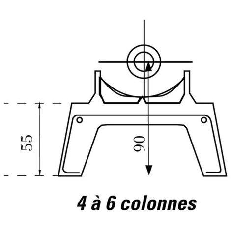Pied amovible DUNE 4 et 6 colonnes - Prépeint