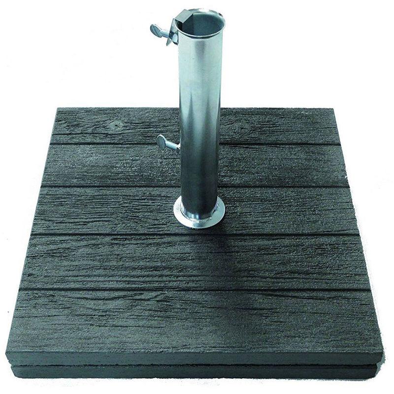 Pied beton (40Kg) avec tube centré - Dim : 50x50 cm