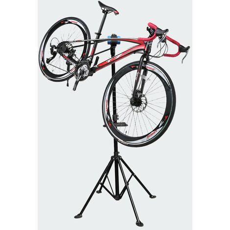 Pied d'Atelier De Réparation Pour Vélos, Hauteur Réglable, Pivotant - Noir