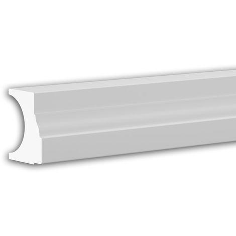 Pied de demi-balustrade Profhome 474111 Moulure exterieure Balustrade Élément de façade style Néo-Classicisme blanc 3 m