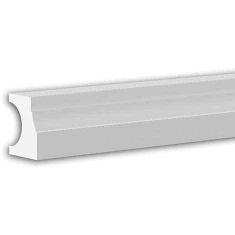 Pied de demi-balustrade Profhome 474211 Moulure exterieure Balustrade Élément de façade style Néo-Classicisme blanc 3 m