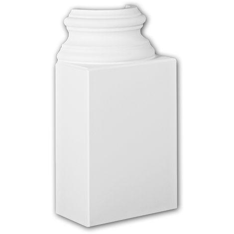 Pied de demi-colonne 117300 Profhome Colonne Élement décorative design intemporel classique blanc
