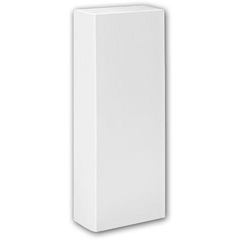 Pied de demi-colonne 117600 Profhome Colonne Élement décorative design intemporel classique blanc