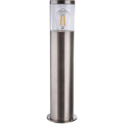 Pied de lampe de porche de base base de lampe en acier inoxydable cour extérieure projecteur dans l'ensemble, y compris les ampoules LED