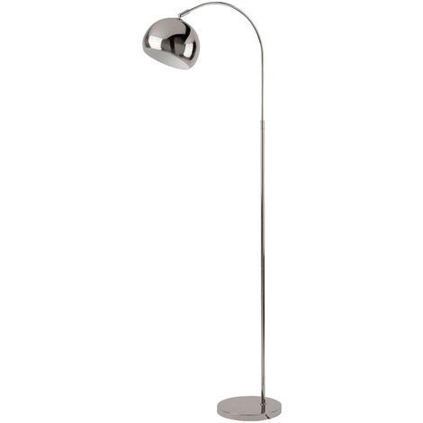 Pied de lampe de stand design rétro arc chrome spot réglable dans l'ensemble, y compris les ampoules LED