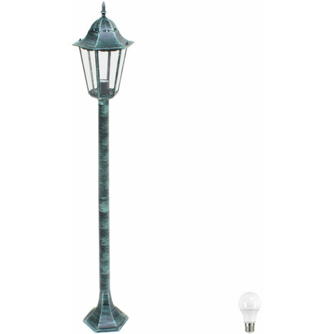 Pied de lampe rustique, supportant l'éclairage de la lanterne, incluant des ampoules à LED