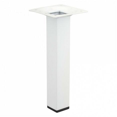 Pied de meuble carré 25x25mm blanc - plusieurs modèles disponibles