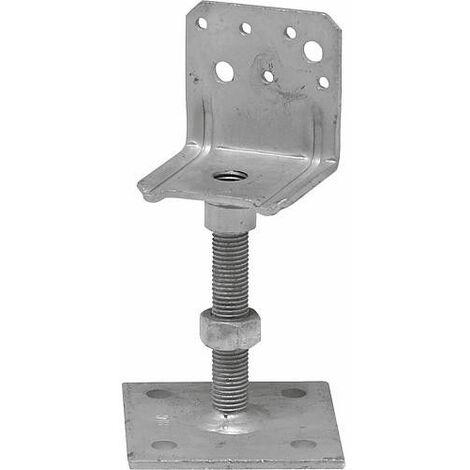Pied de montant LB, hauteur reglable LB 80 x 90 galvanise a chaud (tzn)