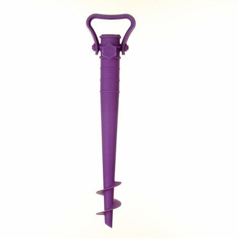Pied de parasol de plage - A planter - Violet