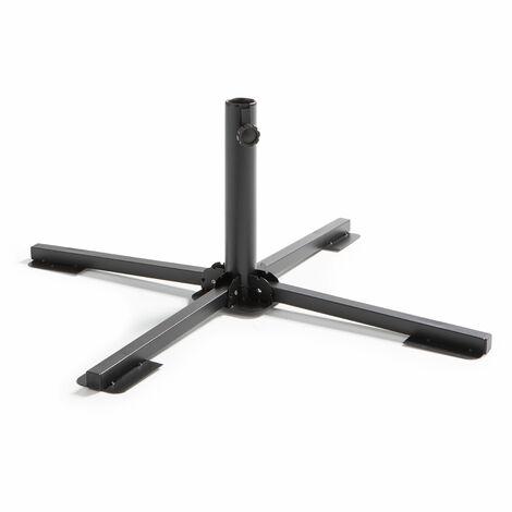 Pied de parasol pliant 84 cm Solys - Noir - Noir