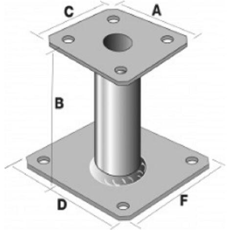 Pied de poteau à platine fixe PPA150, hauteur 150 mm